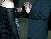Man And Woman At A Cocktail Party