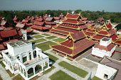 stock photo of royal palace  - The majestic newly renovated Mandalay Palace  - JPG
