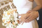 foto of wedding couple  - wedding rings - JPG