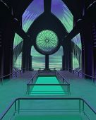 Futuristic Sci-Fi Cathedral Building