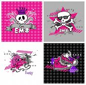 stock photo of emo  - emo vector banners - JPG