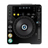 vector dj cd player illustration