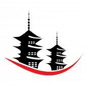 vector pagoda illustration