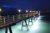 Beauty romantic pier on Patong Beach on Phuket, Thailand