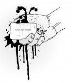 Hand Holding Grunge Banner