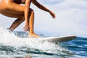 Surfing Time For Sporty Lady. poster