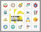 Marketing Icon Set. Targeting Users Split Test E-mail Marketing Brand Identity Marketing Analysis So poster