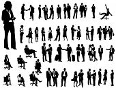 stock photo of person silhouette  -  Business people - JPG