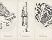 picture of accordion  - music theme drawings  - JPG