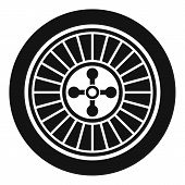 Casino Wheel Icon. Simple Illustration Of Casino Wheel Vector Icon For Web Design Isolated On White  poster