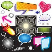 Attractive Dialog Symbol Graphic,  NO gradient fill, easy edit color.