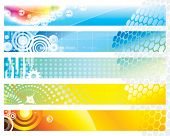 Web Banners design set, vector illustration layered.