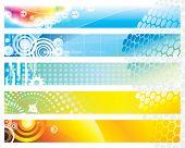 Web Banners design set, vector illustration layered.