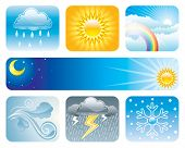 Set of Weather and Climate of vector illustration layered.