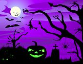 foto of face-fungus  - halloween illustration - JPG