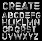 meccano alphabet