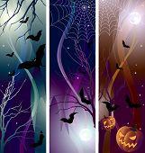 Vector illustration - halloween banner color variations