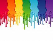 Vector illustration - rainbow paint border