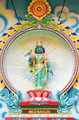 picture of meenakshi  - Porcelain image of Meenakshi a consort of Shiva from Sri Mariamman Hindu temple in Ho Chi Minh City Vietnam - JPG