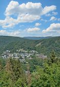 Village Of Heimbach In Eifel National Park,north Rhine Westphalia,germany poster