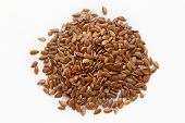 picture of flaxseeds  - A macro shot of a heap of flaxseed - JPG