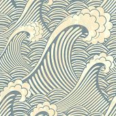 picture of swirly  - seamless pattern with waves - JPG