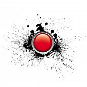 foto of budge  - red button - JPG