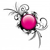 stock photo of budge  - pink button - JPG