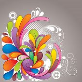 Abstract hand drawn colorful design element. All elements are separated and can be easily adapted for your design.