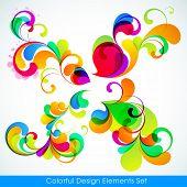 EPS10. Coleção editável de elementos de design colorido