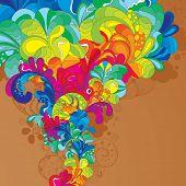 Ilustración de colores hechos a mano. ¡ Disfrute!