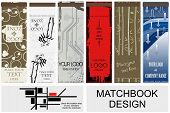 vector matchbook designs
