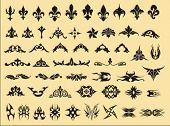 set of various vector symbols