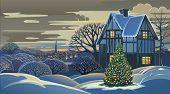 Winter landscape Christmas