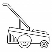 Motor Grass Cutter Icon. Outline Illustration Of Motor Grass Cutter Vector Icon For Web Design Isola poster
