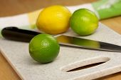 Limes, Lemons And Knife