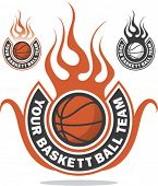 Ready made basketball logo