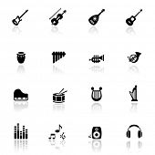 stock photo of musical instruments  - Icons set musical instruments - JPG