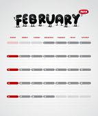 Funny year 2012 vector calendar February