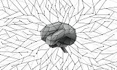 Deep Training And Neural Networks Around The Brain. Polygonal Artificial Intelligence Conceptual Bac poster
