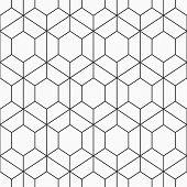 Vector Seamless Geometric Pattern Of Hexagons. Modern Stylish Texture. Repeating Geometric Hexagonal poster