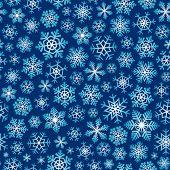Постер, плакат: Бесшовные снежинки фон