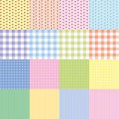 Set of 16 retro seamless patterns