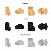 Box, Container, Package, And Other  Icon In Cartoon, Black, Monochrome Style.case, Shell Framework I poster