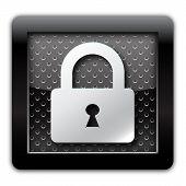 Security lock metallic icon