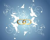 stock photo of ring-dove  - anniversary part1 - JPG