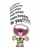 image of happy birthday  - happy birthday singer card - JPG