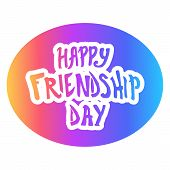 Illustration For Friendship Day, Greeting Cards With Happy Day Of Friendship, Illustration For Banne poster