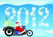 Santa Claus and Christmas tree decorations