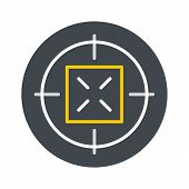 Hunting Gun Aim Icon. Flat Illustration Of Hunting Gun Aim Vector Icon For Web Isolated On White poster